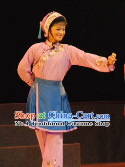 Asian Chinese Traditional Dress Theatrical Costumes Ancient Chinese Clothing Opera Working Women Costumes