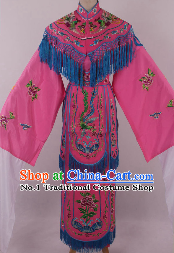 Chinese Traditional Dresses Theatrical Costumes Ancient Chinese Hanfu Phoenix Embroidered Costumes