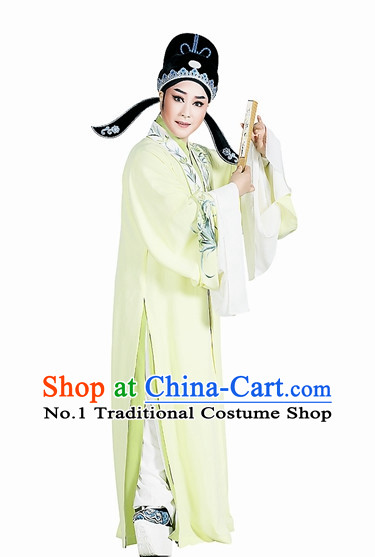 Asian Chinese Traditional Dress Theatrical Costumes Ancient Chinese Clothing Husband Costumes and Hat