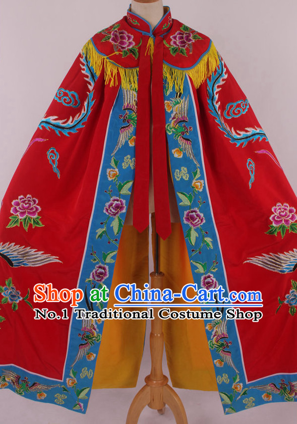 Chinese Traditional Dresses Theatrical Costumes Ancient Chinese Hanfu Empress Phoenix Embroidered Cape