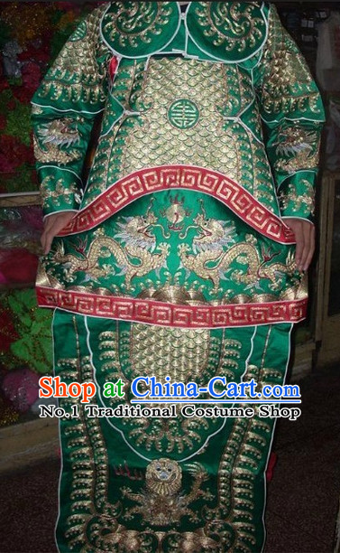 Ancient Chinese Beijing Opera General Male Armor Costumes Complete Set for Men