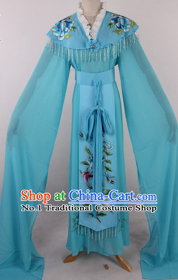 Chinese Traditional Dresses Theatrical Costumes Ancient Chinese Hanfu Water Sleeves Costumes
