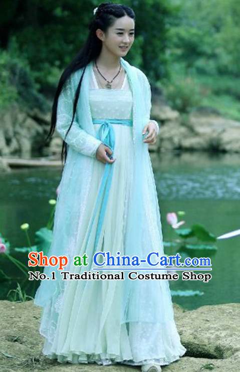 Traditional Chinese Fairy Costumes Hua Qian Gu Costume Complete Set for Girls