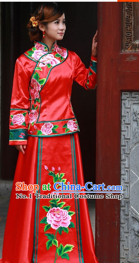 Chinese Traditional Wedding Dresses Oriental Clothing Bridal Gowns for Women
