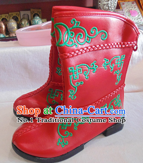 Traditional Mongolian Boots for Children