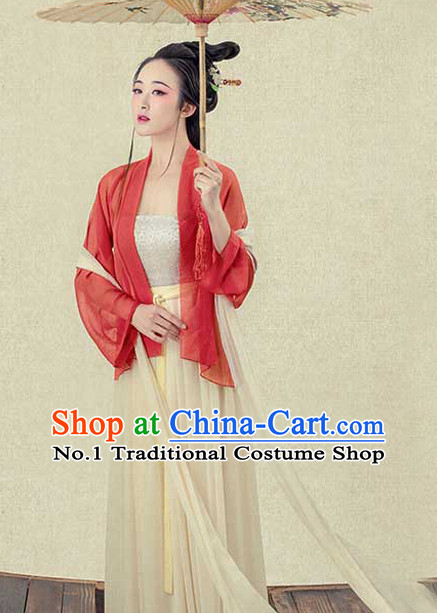 Traditional Chinese Photo Costume Hanfu Costumes and Hair Accessories for Women