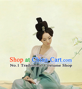 Traditional Chinese Photo Costume Tang Dynasty Costumes and Hair Accessories for Women