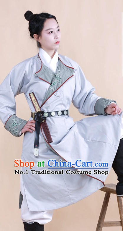 Chinese Ancient Knight Costumes and Belt Complete Set
