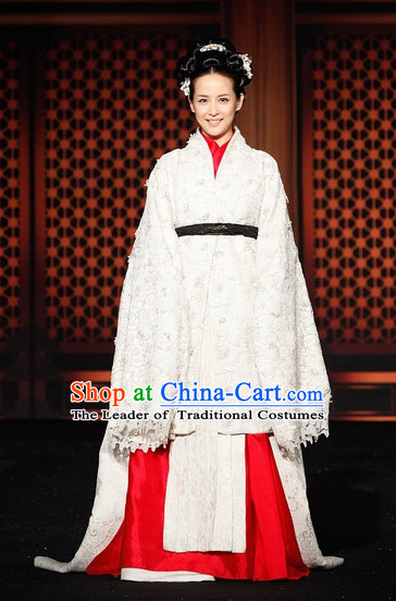 Ancient Korean Palace Princess Long Sleeve Clothing and Hair Accessories Complete Set for Women
