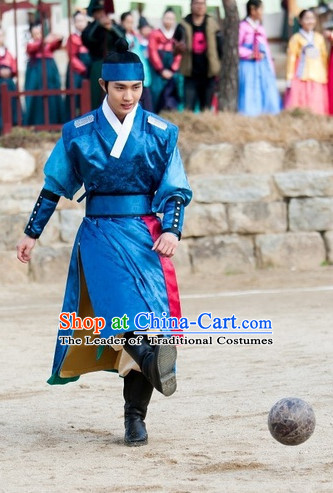 Korean Ancient Male Suit and Headband Complete Set