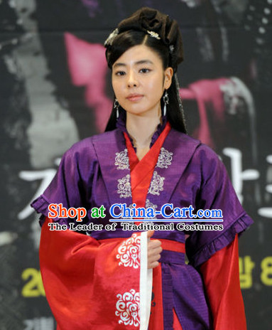 Ancient Korean Imperial Princess Costume and Headpieces Complete Set