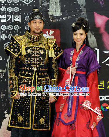 Ancient Korean Imperial Princess Costumes and Headpieces Complete Set