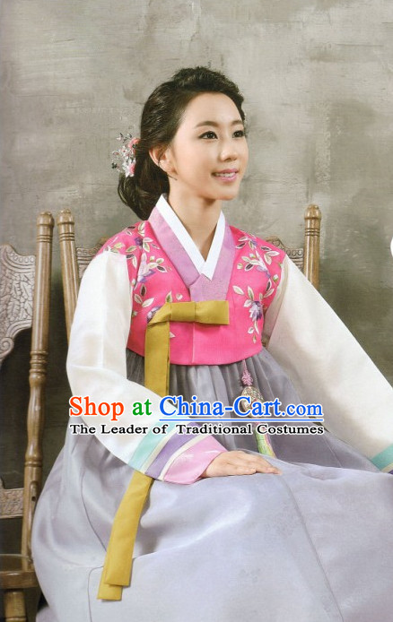 Korean Fashion Hanbok Wedding Attending and Hair Accessories Complete Set for Ladies