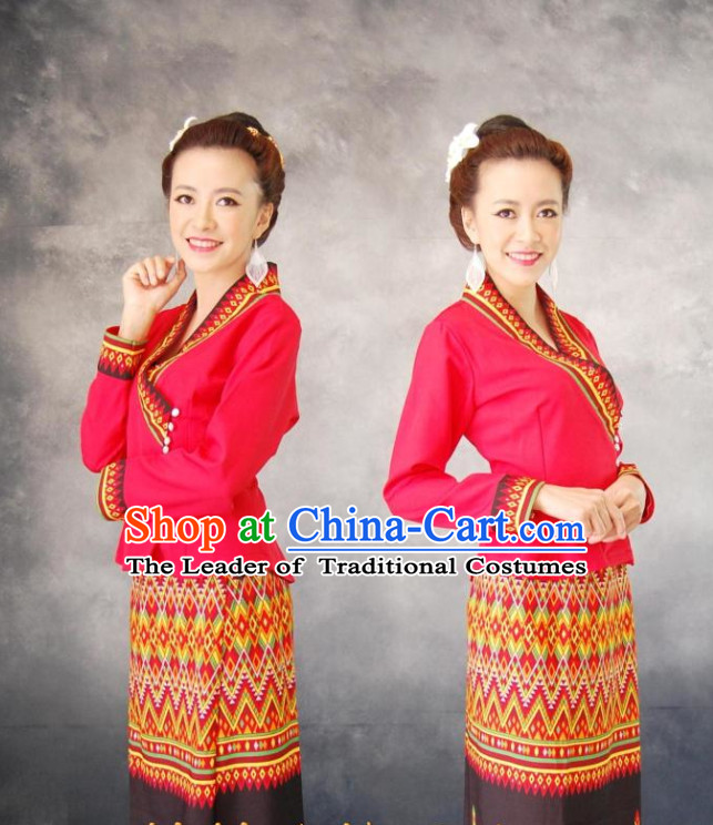Thailand Fashion Thailand Customs Thai Shirts and Skirts for Women