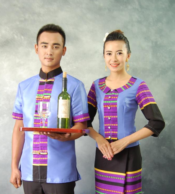 Thailand Traditional Clothes 2 Sets for Husband and Wife