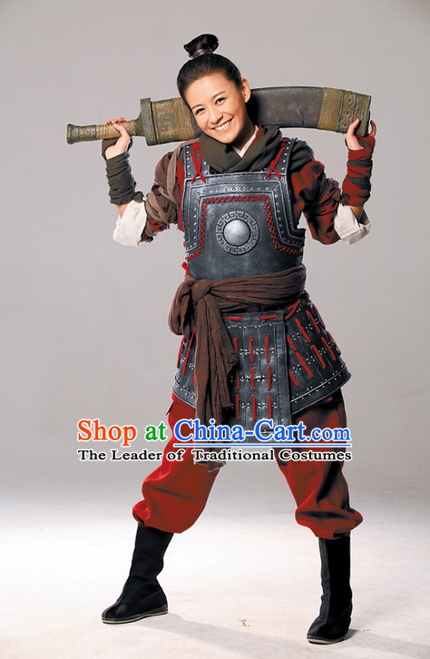 Ancient Asian Female General Armor Costume Complete Set