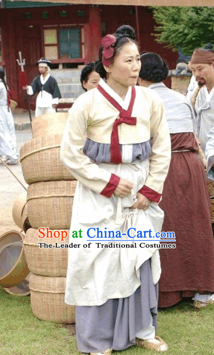 Ancient Korean Civilian Female Clothing.