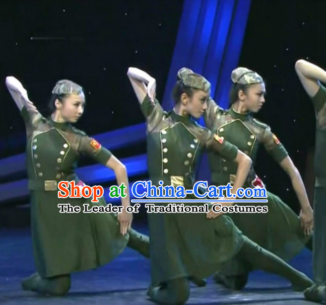 Chinese Army Dance Woman Costume Dance Costumes Uniforms