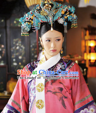 Chinese Qing Classic Palace Empress or Queen Phoenix Head Accessories Set