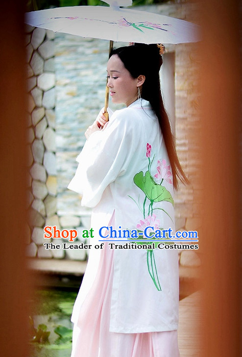 Chinese Lotus Costume Ancient Costume Traditional Clothing Traditiional Dress Costume China China Wholesale Clothing online