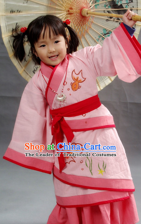 Hands Painted Chinese Kids Hanfu Costume Ancient Costume Traditional Clothing Traditiional Dress Clothing online