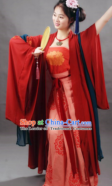 Chinese Hanfu Costume Ancient Costume Traditional Clothing Traditiional Dress Clothing online and Hair Accessories