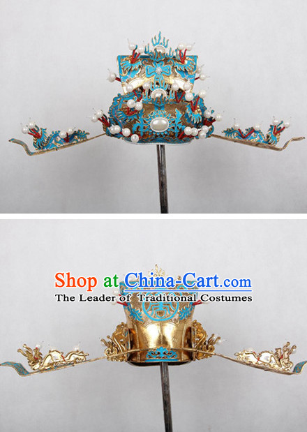 Chinese Opera Prime Minister Headwear Headpieces Hat