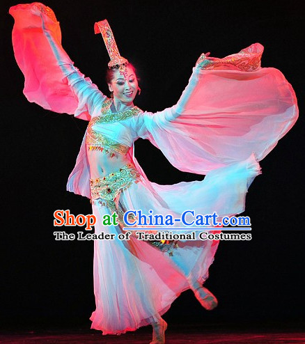 Chinese Professional Stage Performance Han Palace Dancewear Dance Costume Complete Set for Women
