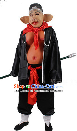 Journey to the West Zhu Bajie Pig Deity Costume and Hat