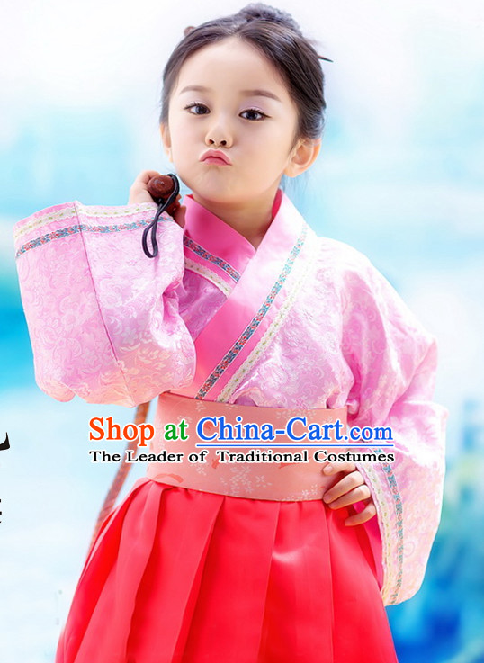 Ancient Chinese Han Dynasty Princess Clothes Complete Set for Girls Kids