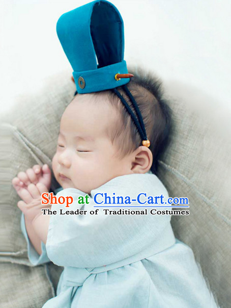 Ancient Chinese Han Dynasty Baby Clothing Garment and Hat Complete Set for Babies