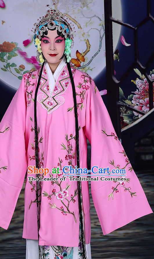 Ancient Chinese Hua Dan Opera Costumes and Hair Accessories Complete Set for Women