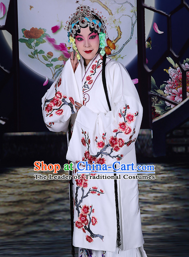 Blue Ancient Chinese Beijing Opera Costumes Peking Opera Young Women Costume for Adults Kids