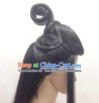 Ancient Chinese Fairy Black Long Wigs