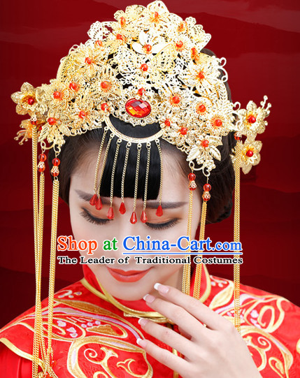 Traditional Chinese Princess Brides Wedding Headwear Phoenix Crown