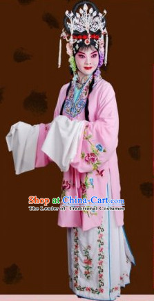 Ancient Chinese Opera Hua Dan Costumes and Headpieces Complete Set for Women