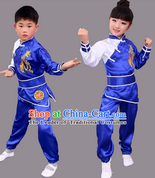 Chinese Kung Fu Uniform Costume Complete Set for Adults Kids Women men Girls Boys