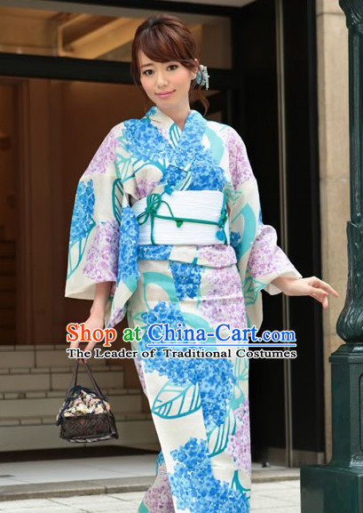 Top Authentic Traditional Japanese Kimonos Kimono Dress Yukata Clothing Robe online Complete Set for Women Ladies Girls