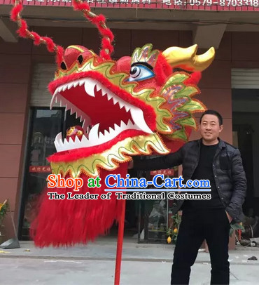 Chinese Classic Big Display or Play Handmade Dragon Head