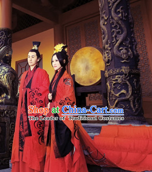 Ancient Chinese Emperor Wedding Robe Dresses for Men