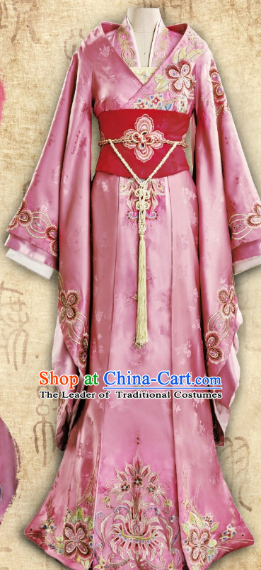 Ancient Chinese Imperial Embroidered Empress Royal Wedding Dresses Clothing Complete Set