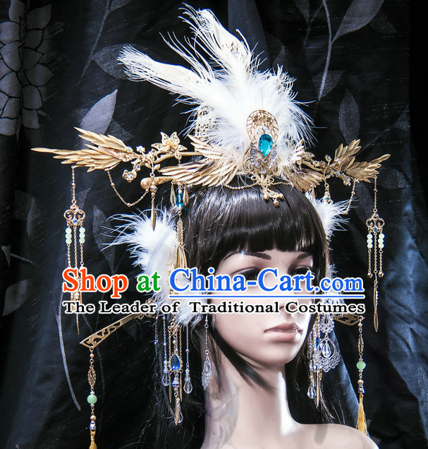 Tang Dynasty Emperor Crown Headpieces Hair Accessories Set