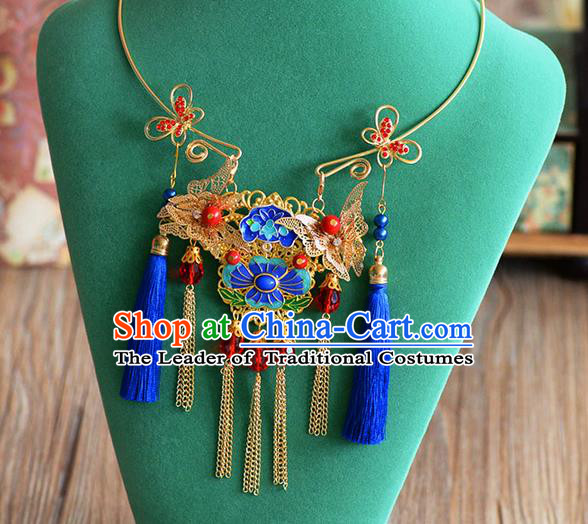 Chinese Imperial Quene Necklace, Empress Necklaces, Xiuhe Suit Necklaces, Wedding Accessories For Women