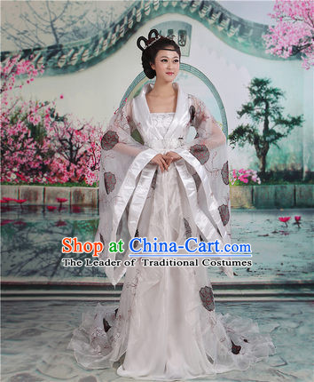 Ancient Chinese Palace Empress Costumes Complete Set, Tang Dynasty Ancient Palace Fairy Princess Dress Suits For Women