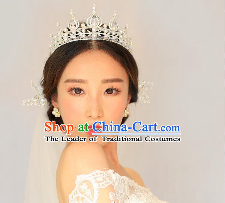 Traditional Jewelry Accessories, Princess, Bride Royal Crown, Wedding Hair Accessories, Baroco Style Headwear for Women
