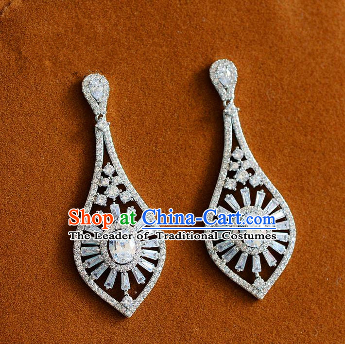 Traditional Jewelry Accessories, Palace Princess Earring, Wedding Accessories, Baroco Style Crystal Earrings for Women