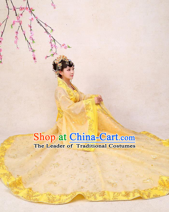 Ancient Chinese Palace Empress Costumes Complete Set, Han Dynasty Ancient Palace Clothing, Cosplay Hanfu Fairy Princess Dress Suits For Women