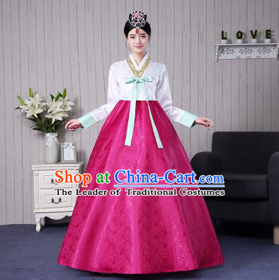 Korean Traditional Wedding Clothes Costumes Korean Ancient Clothes Wedding Full Dress Formal Attire Ceremonial Clothes Court Stage Dancing