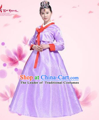 Korean Traditional Costumes Clothes Korean Full Dress Formal Attire Ceremonial Dress Court Stage Dancing