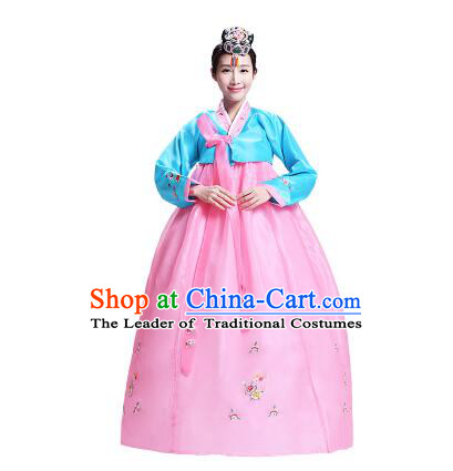 Korean  Formal Attire Traditional Costumes Ancient Clothes Wedding Dress Full Dress Ceremonial Dress Court Stage Dancing Dae Jang Geum